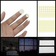 400X Glow in The Dark Star Round Dot Luminous Wall Stickers Kid Room DIY Decor #