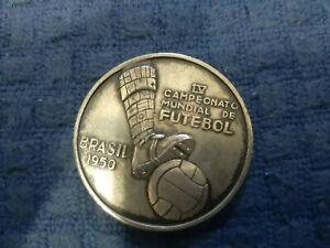 World Cup Fifa 1950 Silver Medal Brazil Rare