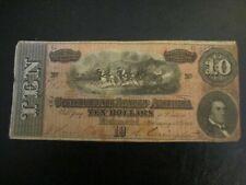 $10 Confederate Note, 1864