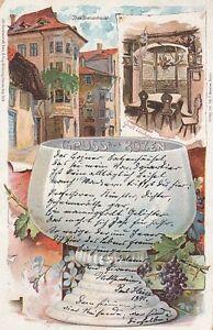 Ansichtskarte Italien   Gruss aus Bozen  -  Bolzano  -  Wein  1899