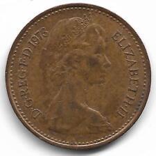 Britain Queen Elizabeth II Half New Penny Coin - 1973