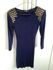 Rare Navy Dress In Size 8 & Studs On Shoulders