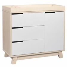 Babyletto Hudson 3 Drawer Dresser with Removable Changing Tray in Washed Natural