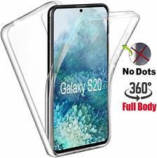 Frente + Verso Estojo Rígido Para Samsung Galaxy S20+ S7 S8 S9 A6 A10 A70 Silicone 360