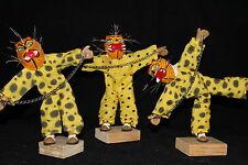 SET 3 TLACOLOLEROS MEXICAN DECORATIVE FIGURES  artesania mexicana dance
