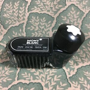 MontBlanc Tinte - Encre - Tinta Black Glass  Germany  Full Bottle 52ml