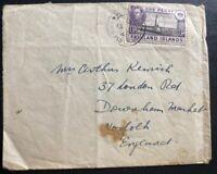 1944 Port Stanley Falkland Islands Cover To  Durham England