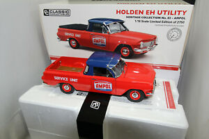 1/18 CLASSIC CARLECTABLE HOLDEN EH UTE UTILITY AMPOL SERVICE UNIT LTD ED  #18739