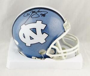 Lawrence Taylor Autographed North Carolina Mini Helmet - JSA W Auth *Black