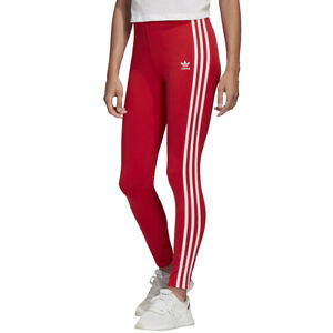 Adidas Originals Tight da Donna Adicolor 3-Stripes Rosso Codice FM3283 - 9W