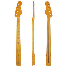 Bass Neck Yellow Maple 21 Fret For 4 String Bass Guitar Parts Replacment