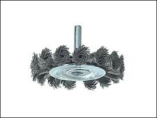 Lessmann Knotted Wheel Brush with Shank 75 x 8mm 0.50 Steel Wire LES41719807