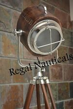 Vintage Nautical Floor Spot Light And Search Light With Tripod Stand Marine Spot