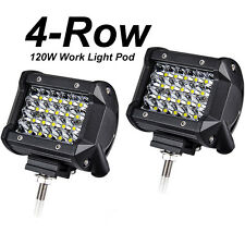 "4"" PHILIPS LED Work Light Bar Spot Pods Comb Offroad 4WD Fog Driving Pod 240W x2"