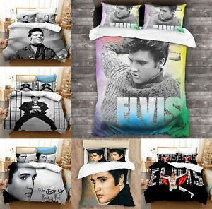 Elvis Presley Bedding Set 3PCS Duvet Cover Pillowcases Comforter Cover US Size