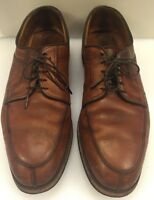 Allen Edmonds Stockbridge Split Toe Oxfords Brown Rubber Soles Men's 10.5 D 3754