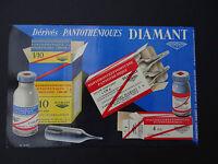 BUVARD DIAMANT Pharmacie / old french BLOTTER LOSCHER pharmacy Apotheke