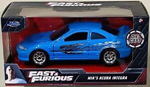 Jada Fast & Furious Mia's Acura Integra Blue 1/32 die cast Car