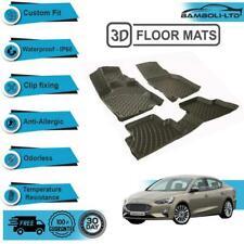 3D Floor Mats Liner Interior Protector Fit Ford Focus 4 2015-2018 (Black)