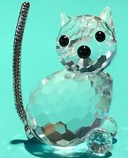 "❤️Swarovski ~ MINI SITTING CAT ~ Seated KITTY ~ Crystal Figurine Swan 7659 1""H❤️"