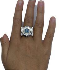 Mens 14k Blue Diamond Ring