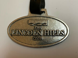 Nice The Lincoln Hills Club Meta & Leather GOLF Bag Fob Tag CA