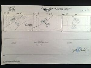 "Storyboard page from ""The Revenge of the Chicken from Outer Space"" (2000)"