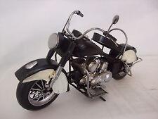 PLATO De Estaño Modelo de una crema y negro motocicleta/Adorno/regalo Americano