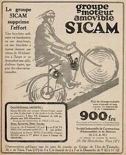Y9002 Gruppo Motore per bici SICAM - Pubblicità d'epoca - 1921 Old advertising