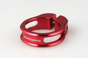 CNC ZOAGEAR Light-weight Bike Bicycle Seatpost Seat Post Clamp 28.6 mm - Red