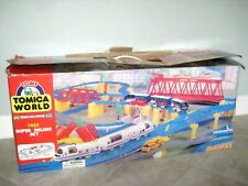 Vintage TOMY TOMICA WORLD 7423 Super Deluxe Set System Thomas Train Toy 100%