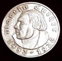 5 Reichsmark silber 1933  Martin Luther und andere