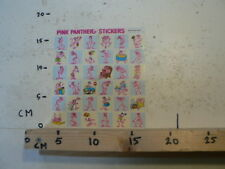 STICKER,DECAL PINK PANTHER STICKERS SHEET WITH 36 STICKERS 1983 ?