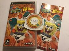 SONY PSP PORTABLE PLAYSTATION SPONGEBOB SQUAREPANTS THE YELLOW AVENGER  COMPLETE