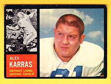 1962 TOPPS #58 ALEX KARRAS LIONS