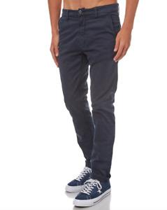 NUDIE 'Slim Adam - Dark Midnight' Navy Blue Chinos Jeans Trousers RRP: £135.00