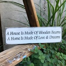 A House Is Made Of Wooden Beams, Housewarming Gift, Wood Sign, Gift For New Home