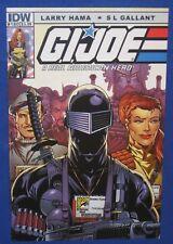 GI Joe Real American Hero #180 IDW 2012 SDCC Snake Eyes Variant Cover Comic Book