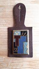 Insigne 38° Régiment de Transmissions DRAGO PARIS + cuir