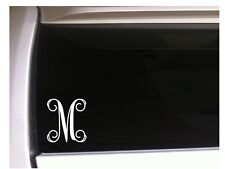 "Letter M Initial Monogram vinyl sticker car decal 5"" L12 Gift Vine Name"