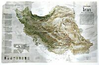 ⫸ 2008-8 August IRAN - National Geographic Map Poster School - WORLD EVENTS
