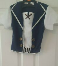Jake and the Neverland Pirates top - Fancy Dress costume - age 5-6yrs