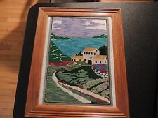 Needlepoint Completed Follow The Trail to the Home - Wonderful Colors