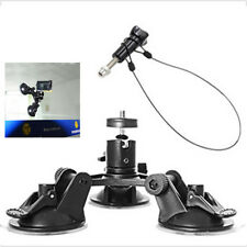 Triple Low Angle Suction Cup Mount Holder + 12'' Stainless Steel Safety Lanyard