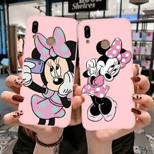 Disney Mickey Minnie Soft Pink Case Cover For HUAWEI P20 Pro P10 P8 P9 Lite 2017