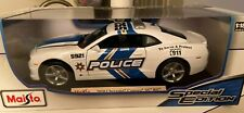 2010 Chevrolet Camaro SS/RS POLICE Car MAISTO SPECIAL EDITION Diecast 1:18 Scale