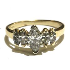 diamond engagement ring 2.7g estate Gia 14k yellow gold 1.12ct marquise