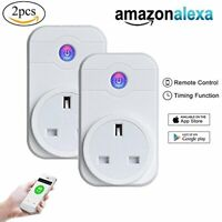 WiFi Smart Plug 2Pack, Kobwa Smart Wi-Fi Schalter Steckdose Arbeiten mit Amazon