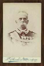 Le roi d'Italie Umbert I Re d'Italia Umberto I Photo cabinet card Roma