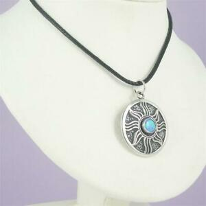 0.925 Sterling Silver Inanna's or Morning Star Pendant With Stone Necklace